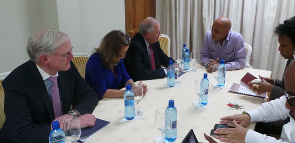 Thomas A. Shannon in Haiti meeting with Michel Martelly