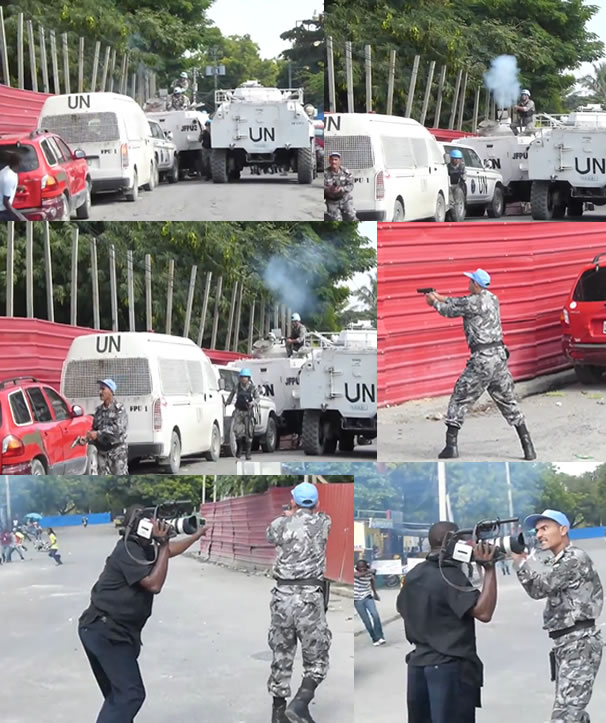 UN Peacekeeper Fire on unarmed Haitian Protestors