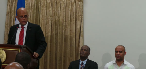 Michel Martelly agreed to sacrifice Prime Minister Laurent Lamothe