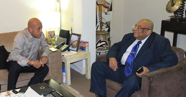 Meeting between Michel Martelly and CSPJ President, Anel Alexis Joseph