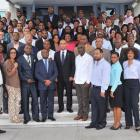 Laurent Lamothe souvenir picture as Prime Minister with staff