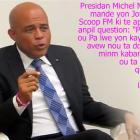 Presidan Martelly mande yon Jounalist Scoop FM domi nan minm Kaban