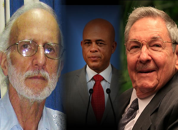 President Michel Martelly helped free Alan Gross from Cuba via diplomatic ties