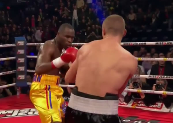Haitian-Canadian Adonis Stevenson knocked out Dmitry Sukhotsky in fifth round