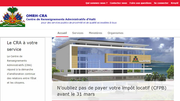 Haiti Government launched Administrative Information Centre (CRA)
