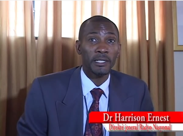 Dr Harrison Ernest, director general at Haiti's state-owned radio and TV broadcaster RTNH