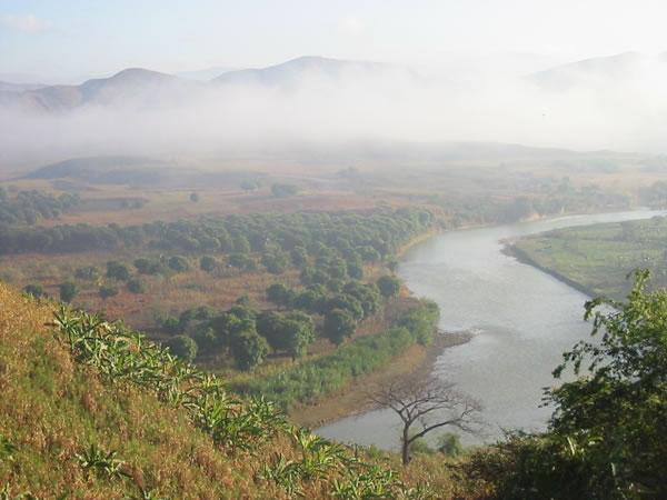 Artibonite river in Haiti, 320 km long river