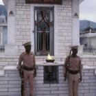 Haitian Military guarding the tomb of Francois Duvalier