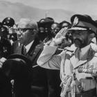 Francois Duvalier received Emperor Haile Selassie I in 1966