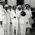Francois Duvalier and several officers of his Military regime