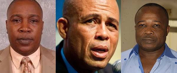 Michel Martelly, Simon Dieuseul Desras and Jacques Stevenson Thimoléon reach agreement
