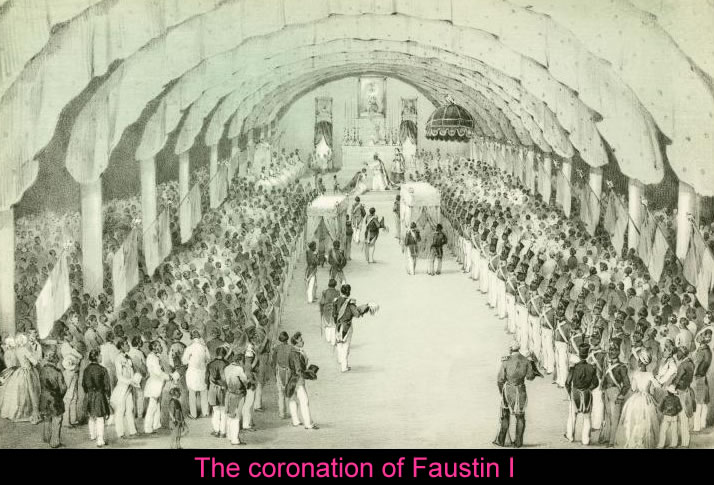 Faustin Soulouque coronation ceremony as Faustin I