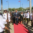 Michel Martelly, Dr. Florence Duperval Guillaume on day of heroes, 2015