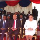 Michel Martelly, Dr. Florence Duperval Guillaume,  Evans Paul - Day of Heroes