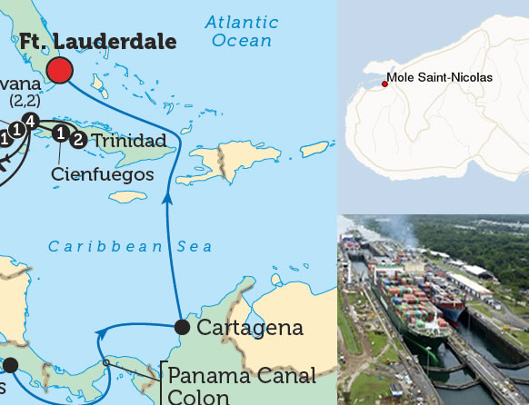 Mole St. Nicholas as potential US naval base for Canal of Panama