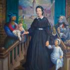 Artist Ulrick Jean-Pierre painted Sisters of the Holy Family in New Orleans