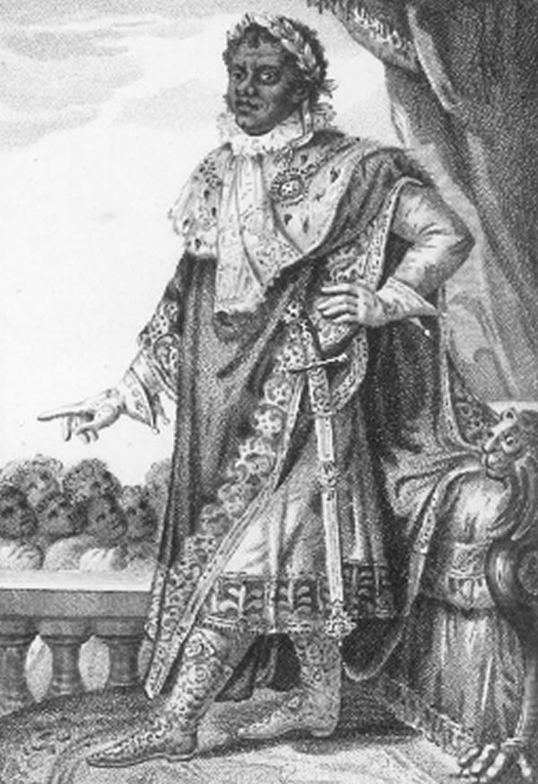 Henri Christophe as Henri I, King of Haiti