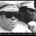Lt. Gen. Henri Namphy and  Gen. Williams Regala 1988