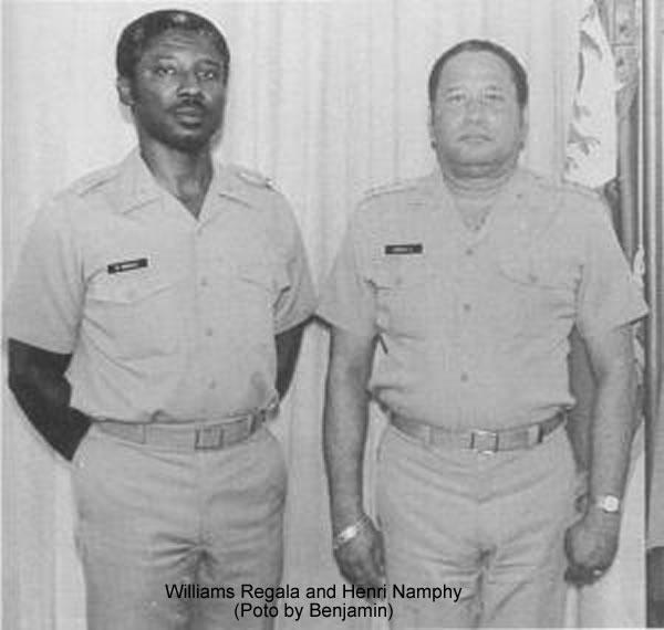Williams Regala and Henri Namphy