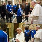 Haitian amputees Soccer Team who lost legs in earthquake meet Pope Francis