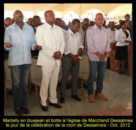 Presidend Michel Martelly criticized for wearing blue jean, death of Dessalines