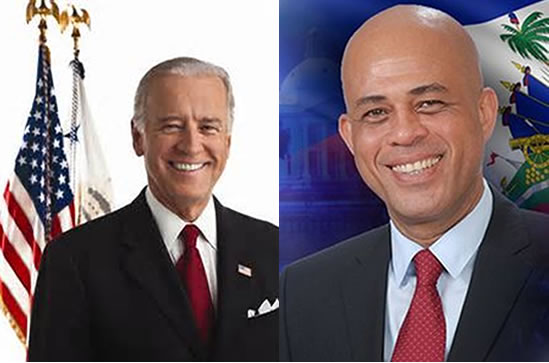 Vice President Joe Biden Call with Haitian President Michel Martelly