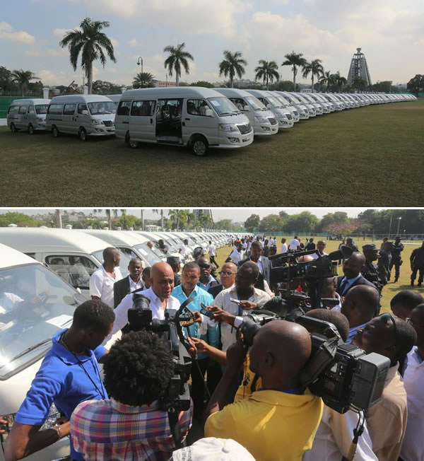 Chanje Metye Chanje Lavi handover 72 buses to  new Haitian entrepreneurs