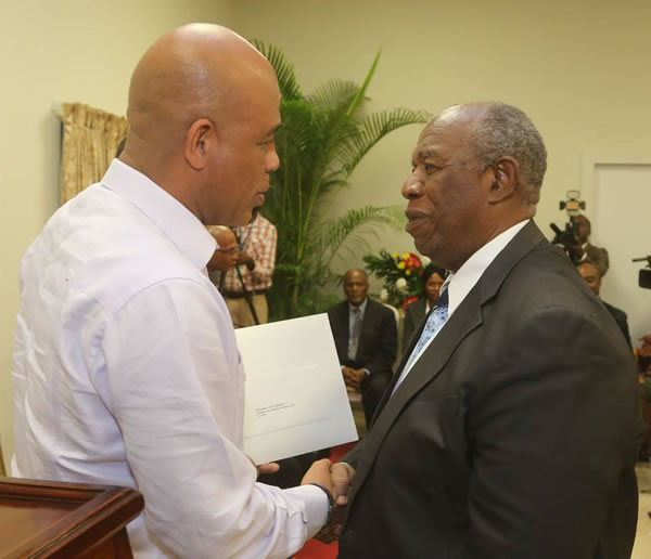 Minister Victor BENOIT and Michel Martelly