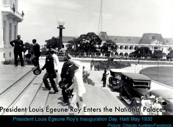Louis Eugène Roy entering the National Palace