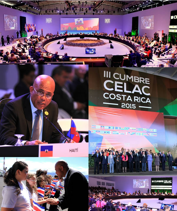 Michel Martelly at the the 2015 CELAC summit in Costa Rica