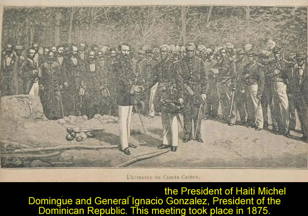 Michel Domingue and General Igracio Gonzalez in 1875