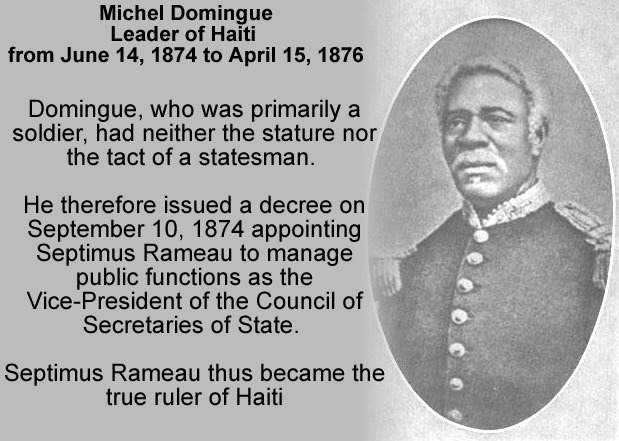 Michel Domingue, President of Haiti