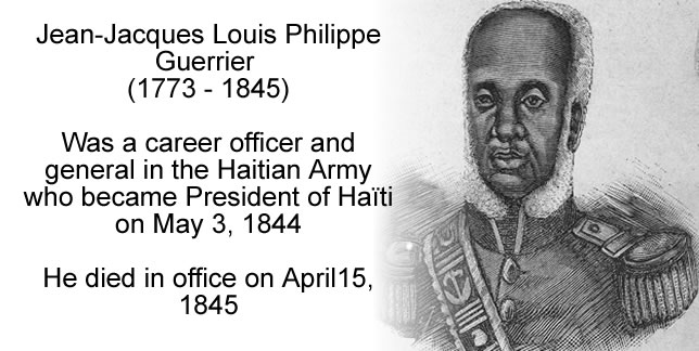 Jean-Jacques Louis Philippe Guerrier, career officer, President of Haiti