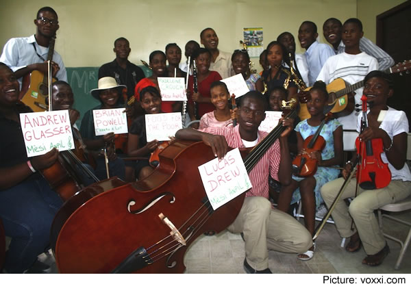 Occide Jeanty Music Academy in Cite Soleil by Pastor Jean Enock