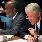 Haitian President Rene Preval And President Bill Clinton