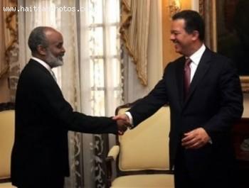 Rene Preval And Dominican President Leonel Fernandez