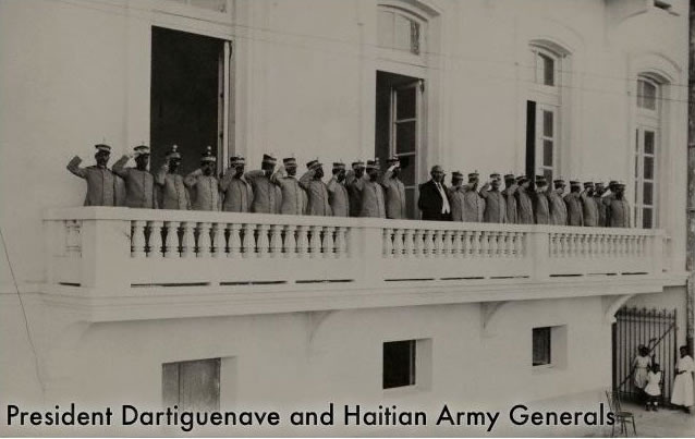 Sudre Dartiguenave and Haitian Army Generals