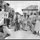 Candidate Louis Dejoie campaining in Aquin in 1957
