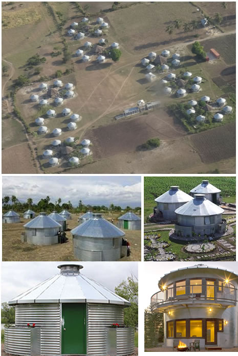 Grain bins from Iowa turned into homes in Haiti