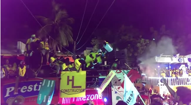 kanaval accident 2015 - Seconds after event