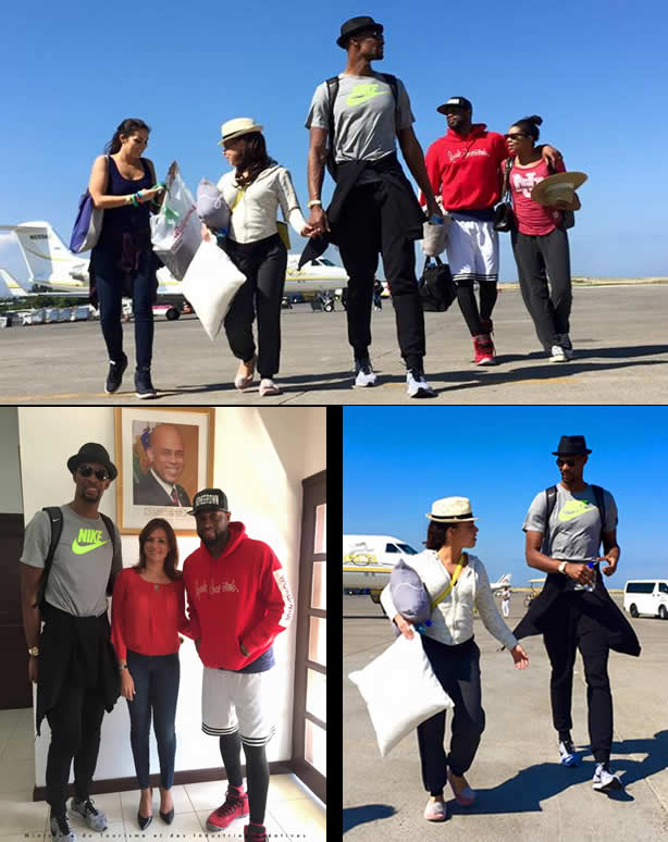 Dwyane Wade and Chris Bosh in Haiti for Carnival