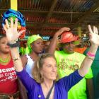 United States Ambassador Pamela L. White in Jacmel Kanaval