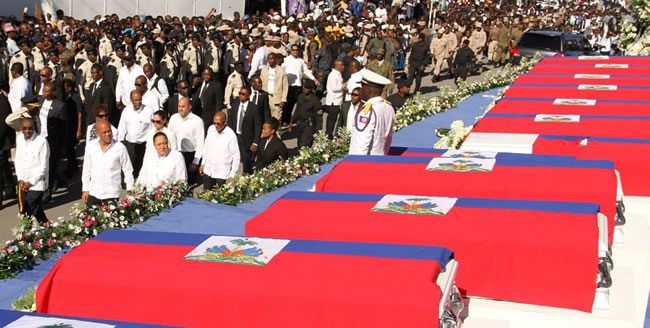 Funeral for Victims of Kanaval accident