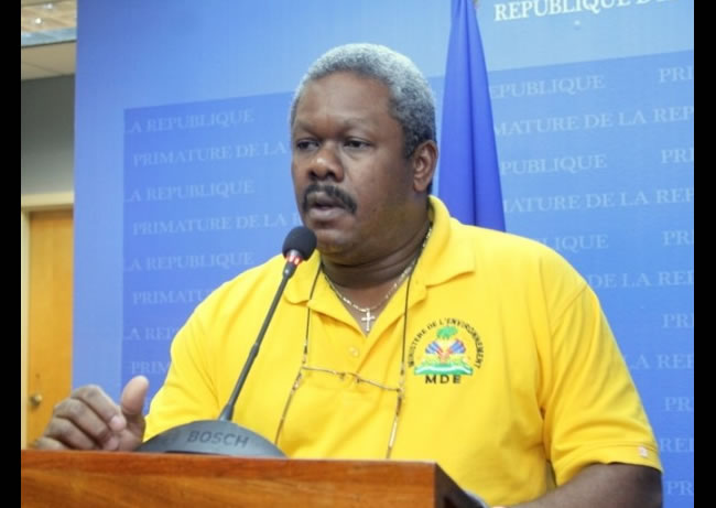 Resignation of Jean Francois Thomas,  Minister of Agriculture