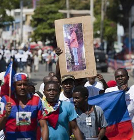 Haitian protesters outraged over lynching of Haitian in