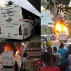 Capital Coach Line bus attacked and burned in Petit-Goâve