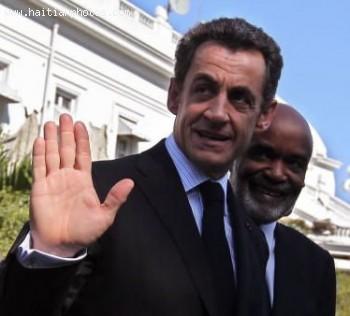French President Nicolas Sarkozy And Rene Preval