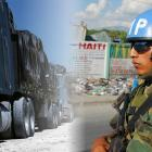 Minustah escorting Dominican trucks entering Haiti