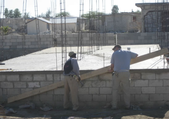 Training of Haitian masons in earthquake-resistant construction