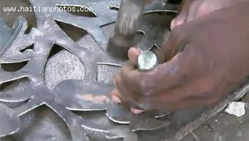 Haitian Art A Metal Piece